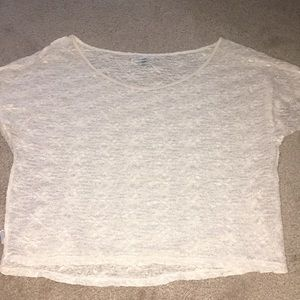 American Eagle Sheer Lace Blouse